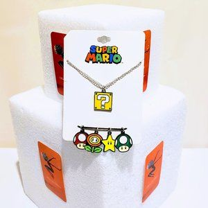 🌟Super Mario Bros Charm Necklace Retro Nintendo🍒